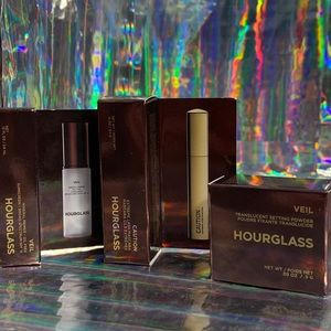 Mini HOURGLASS 3 pc veil powder primer caution NWT